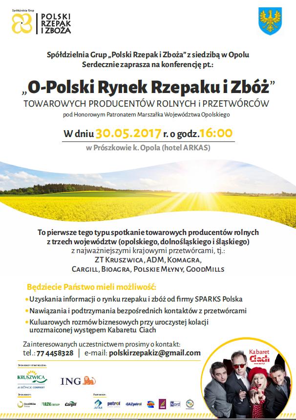 """Konferencja: """"O-polski Rynek Rzepaku i Zbóż"""""""