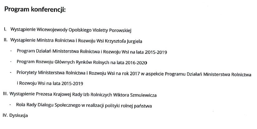 Spotkanie z Ministrem Rolnictwa i Rozwoju Wsi Krzysztofem Jurgielem