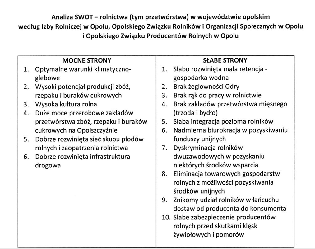 25.09 Posiedzenie zespołu ds. analiz szans i zagrożeń oraz potencjalnych kierunków rozwoju obszarów wiejskich w województwie opolskim