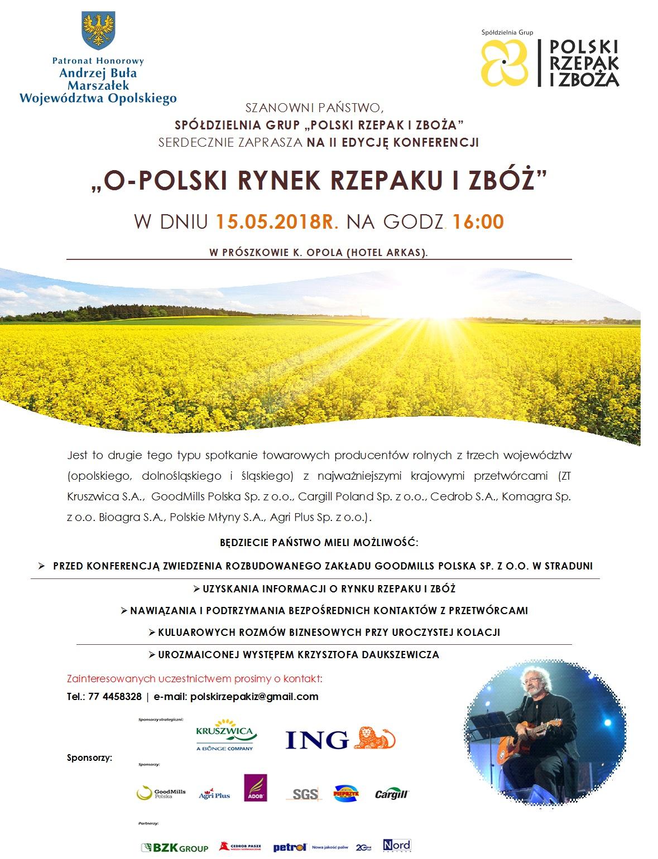 Konferencja O-polski Rynek Rzepaku i Zbóż